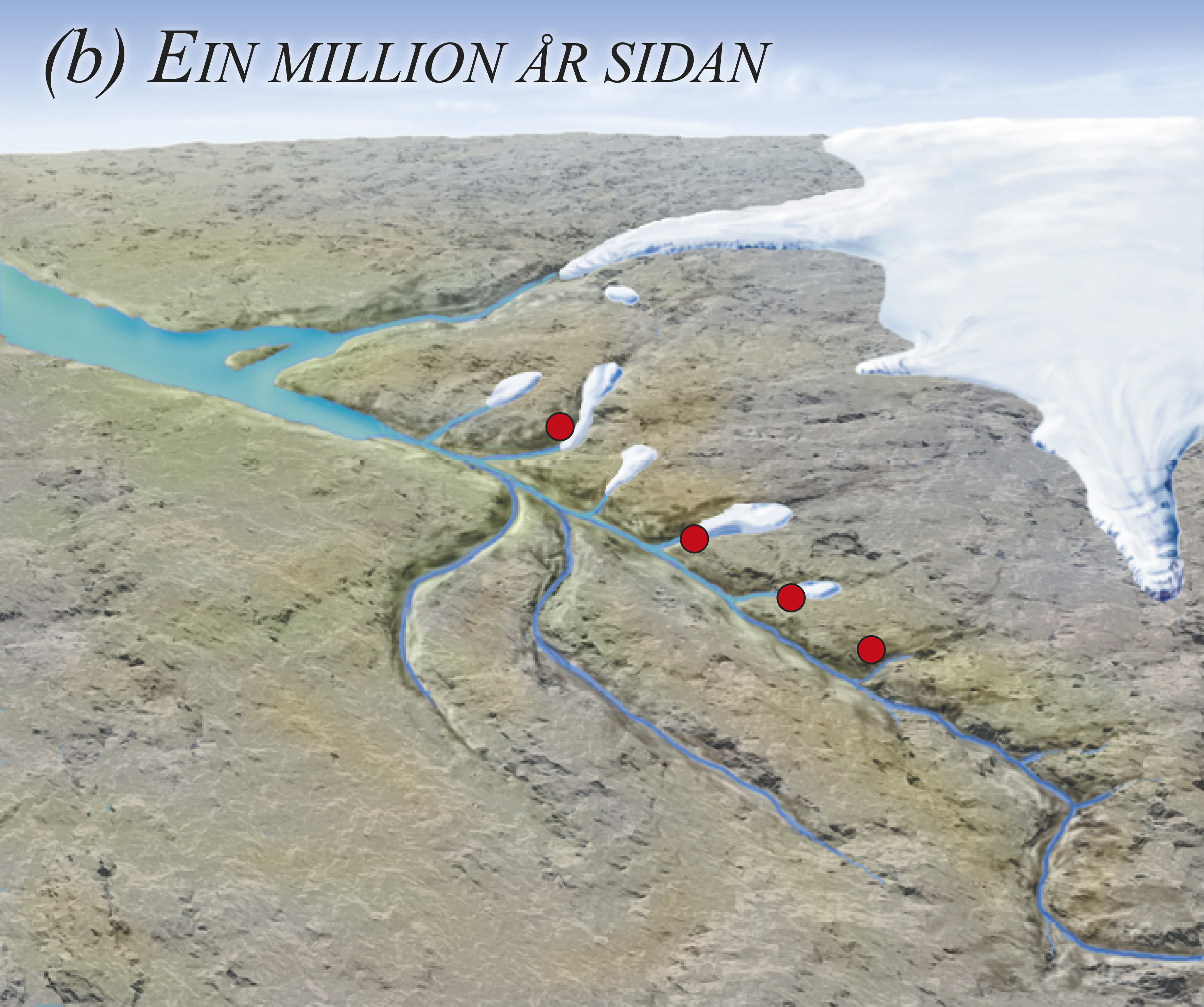 Når breen så smelta attende, følgde sjøen etter, innover den oppskura fjellgrunnen. Slik vart dei første små fjordane danna der det før var dalar.