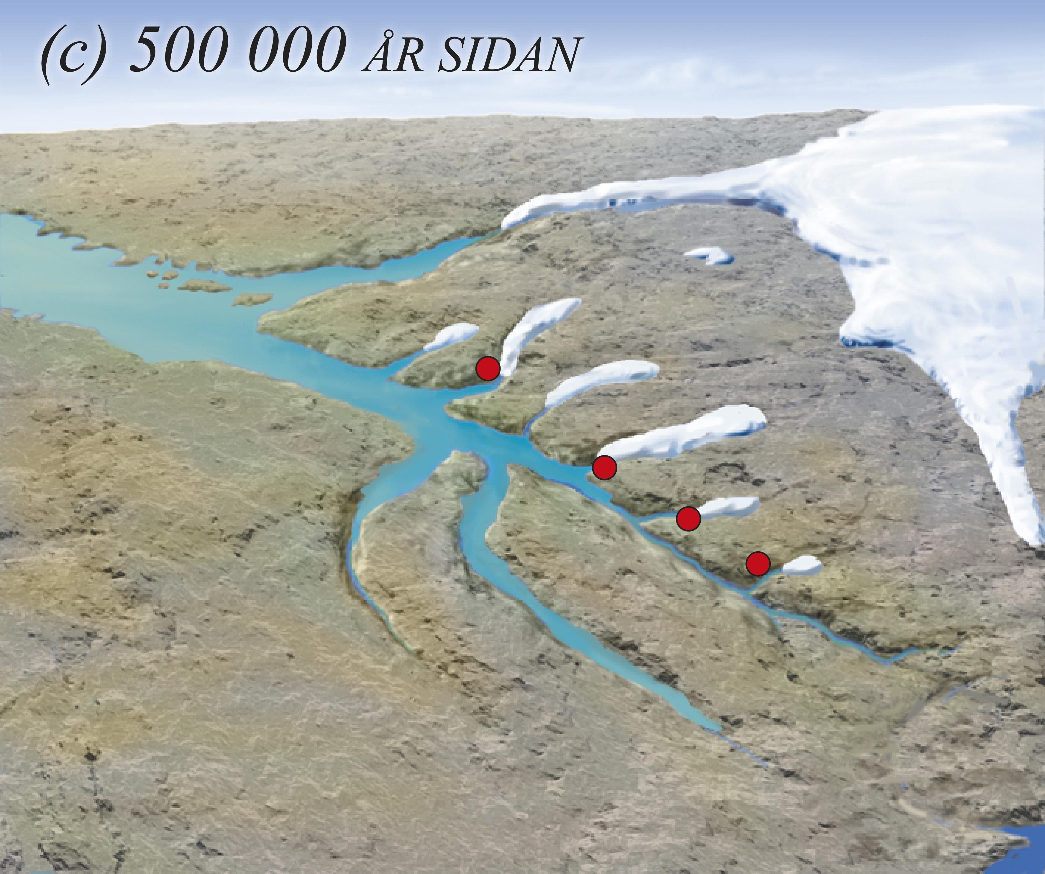 Isbrear gjennom mange istider har grave først Fensfjorden og så Austfjorden lenger og lenger inn i landet.