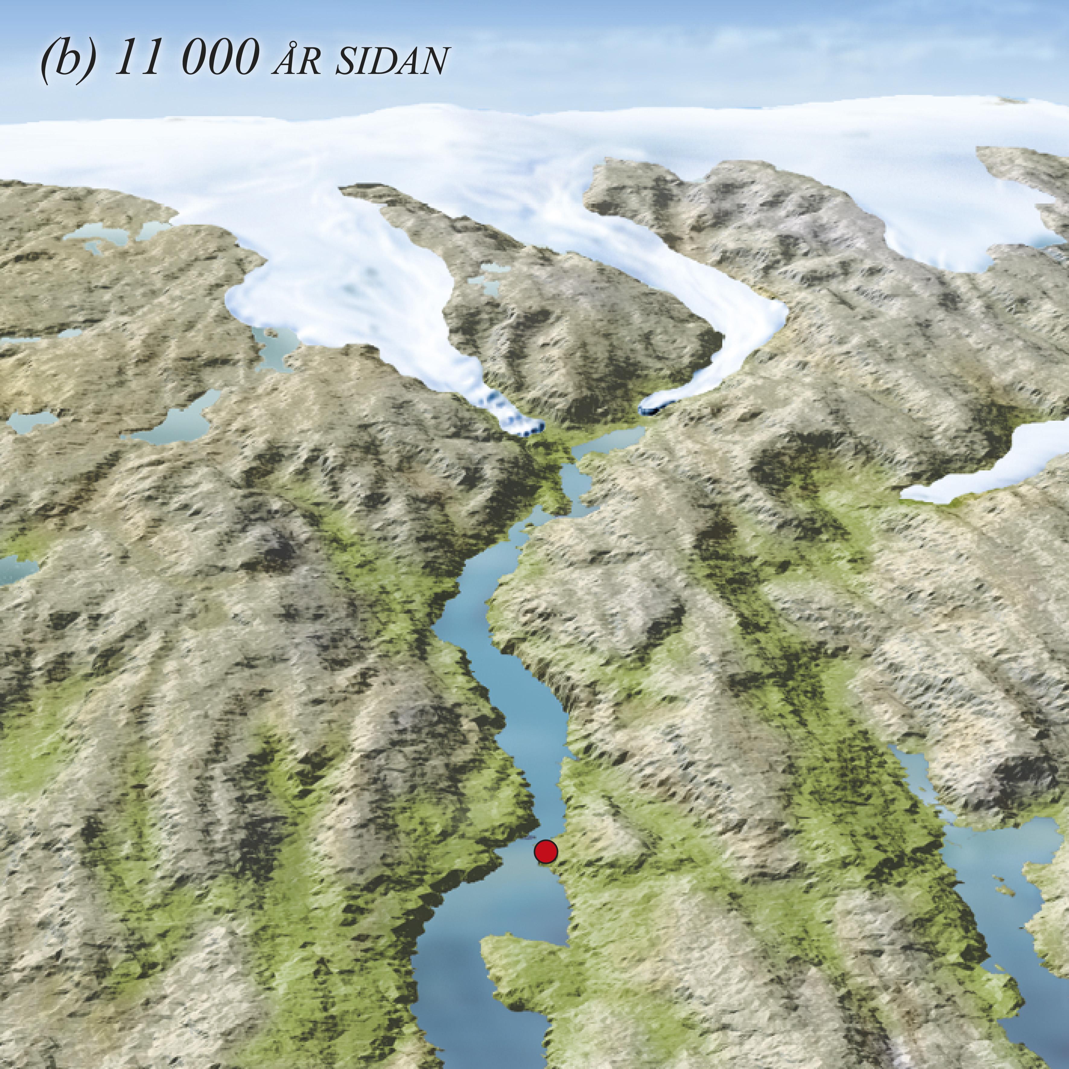 Kalvinga flytta seg innover mot Mo, og fjorden følgde etter.