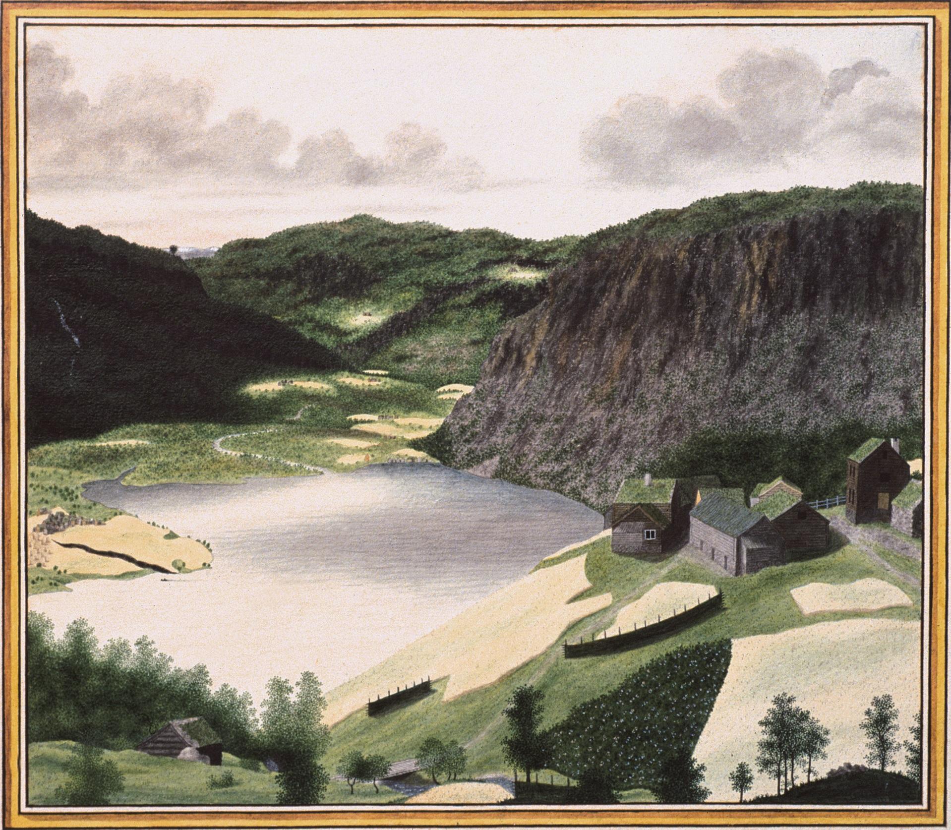 The farm Velken painted by Catharine H.Kølle.