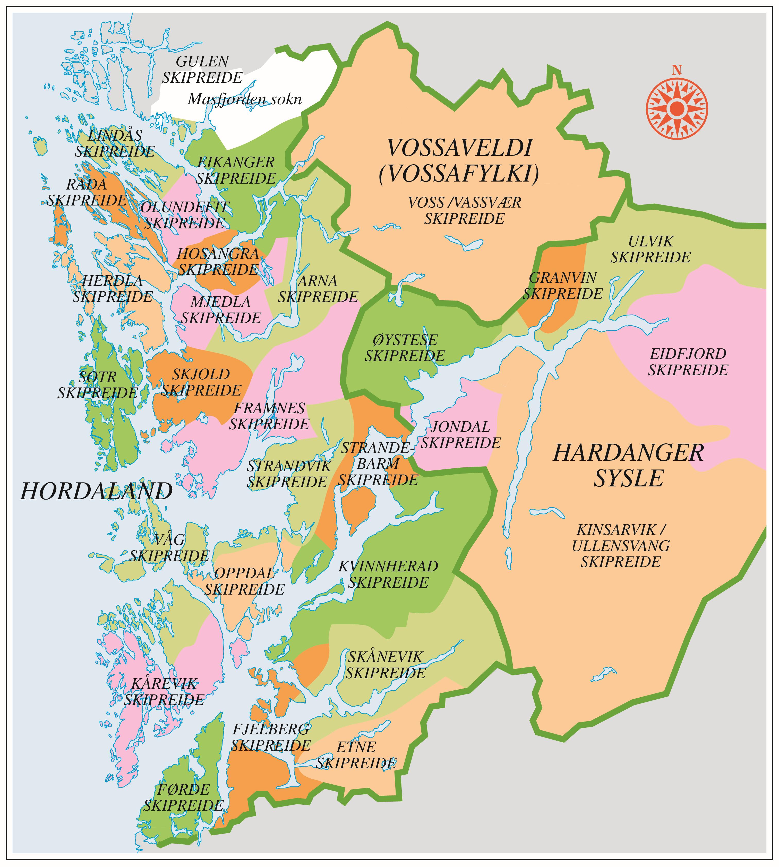 kart over etne Skipreideinndelinga | Grind   Ei reise gjennom natur og kultur i  kart over etne
