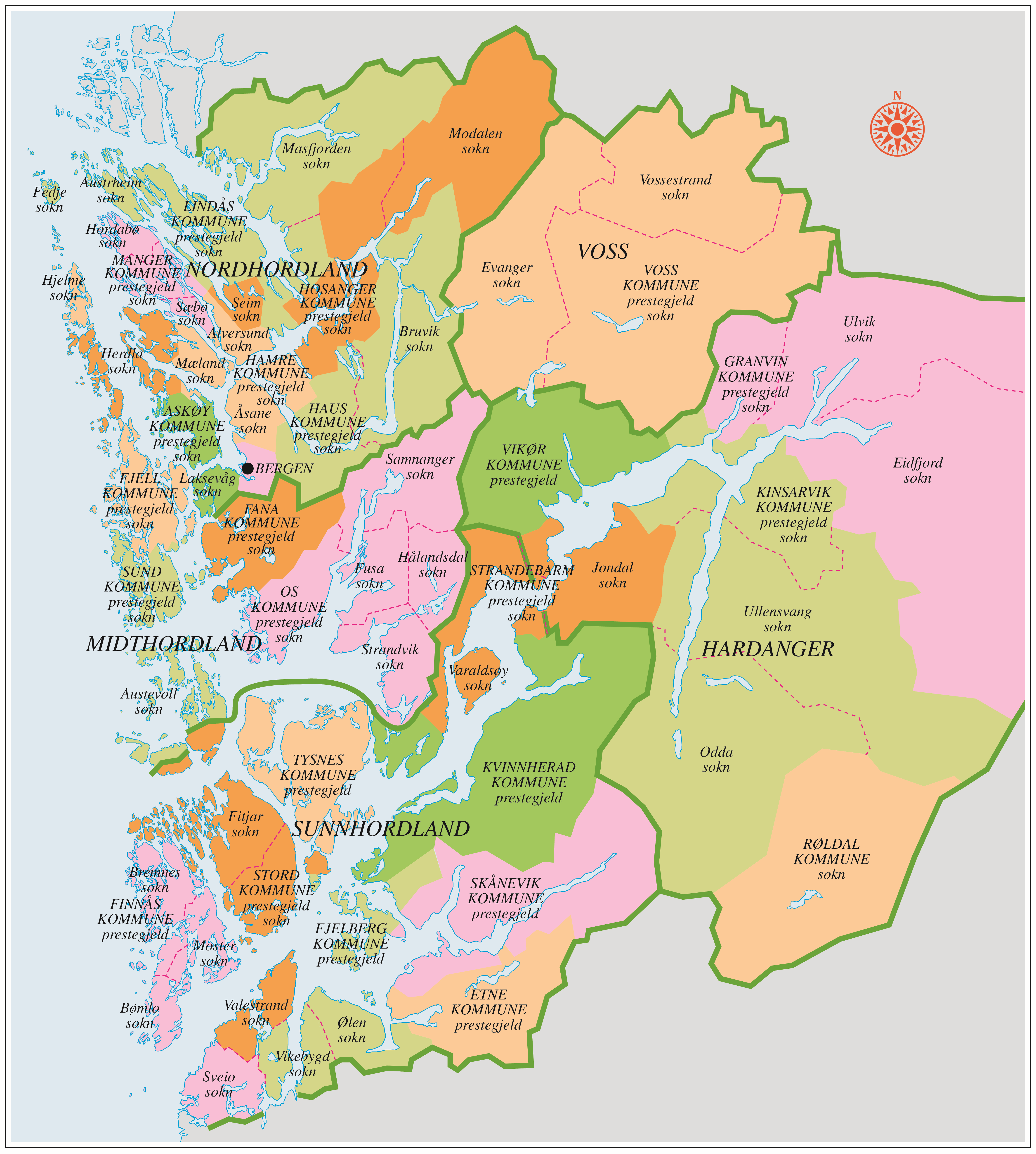 kart kommunegrenser Prestegjeldsgrenser 1837 og kommunegrenser før 1964   Grind   Ei  kart kommunegrenser