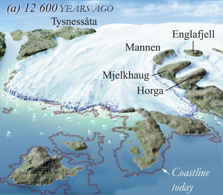 12,600 years ago (a)