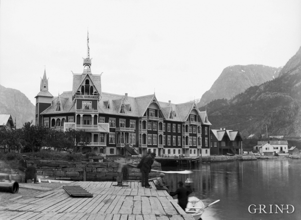 The second Hotel Hardanger in Odda was built in 1896.