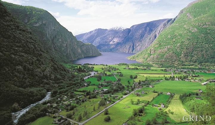 Øvre Eidfjord mot Eidfjordvatnet