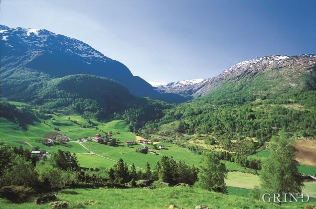 Frå Krossdalen mot Langedalen og Fonna.