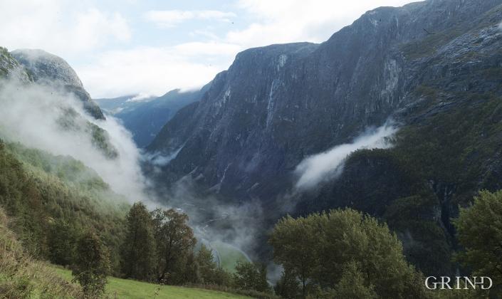 Frå Stalheim mot Nærøydalen.