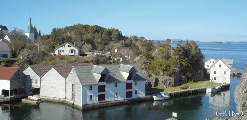Boathouses in Kvalvåg, Austevoll