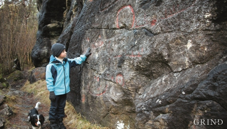 The rock paintings in Grødalshaug, Os