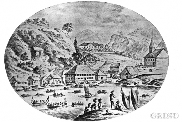 Strusshamn at the beginning of the 1800s.
