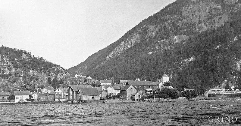 Evanger sentrum før brannen i 1923