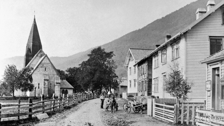 Vossevangen around 1890.