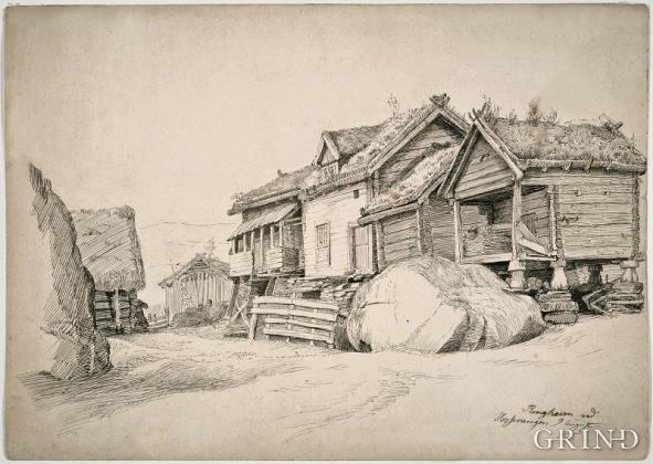 Vetle Ringheim teikna av Adolph Tidemand