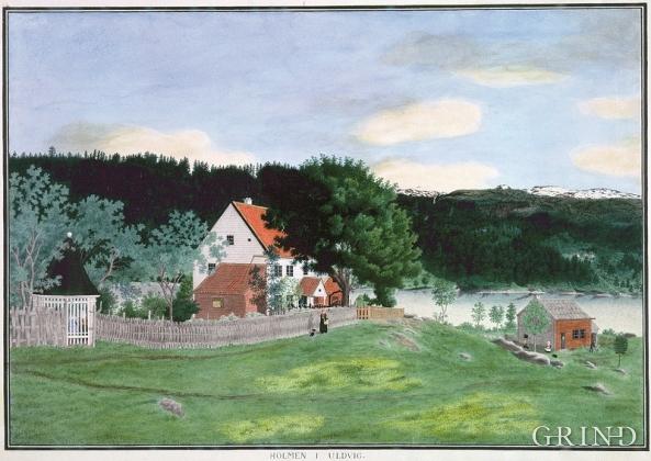 Embetsgarden på Holmen måla av Catharine Kølle