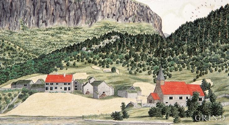 Storegraven and Granvin church