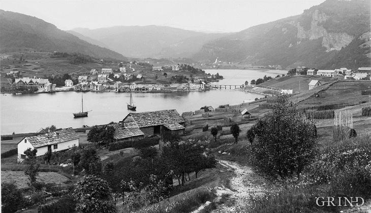 Norheimsund sett frå Tolo kring hundreårsskiftet
