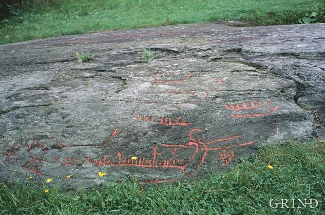 The rock carvings at Bakko.