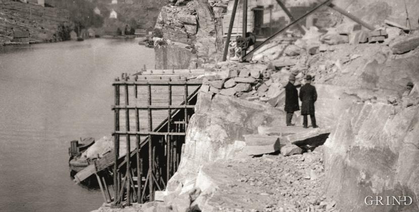 Stone quarry in Kollevågen, 1922