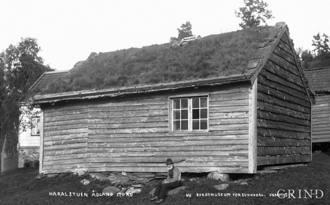 Ådlandsstova slik ho stod på Nedre Ådland, Stord