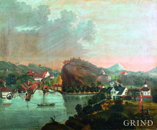 Prospekt av Alvøen, Bergen
