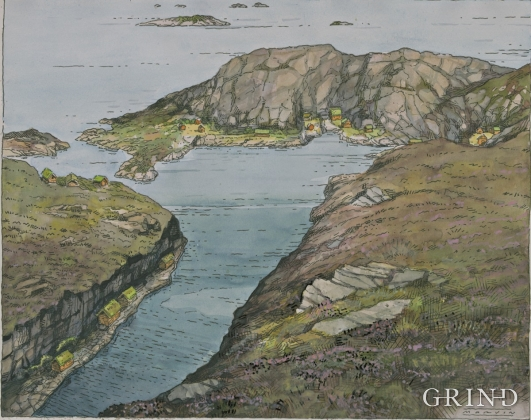 This is what the northernmost part of the fishing village might have looked like in Viking times