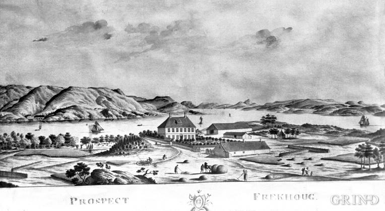 """""""Prospect av Frekhoug"""". J.F.L. Dreier, 1812"""