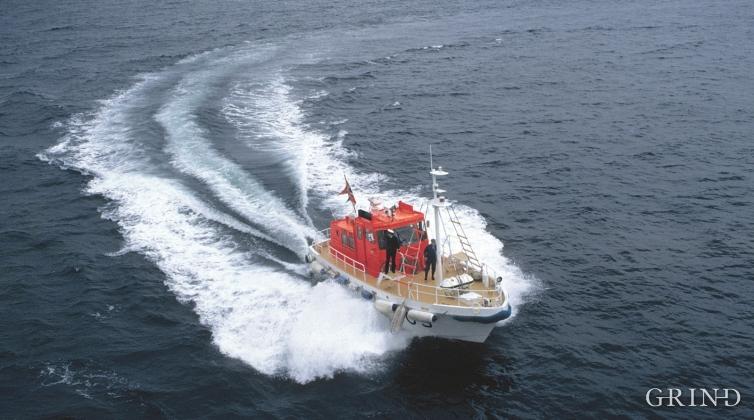 Losbåt på Fedje