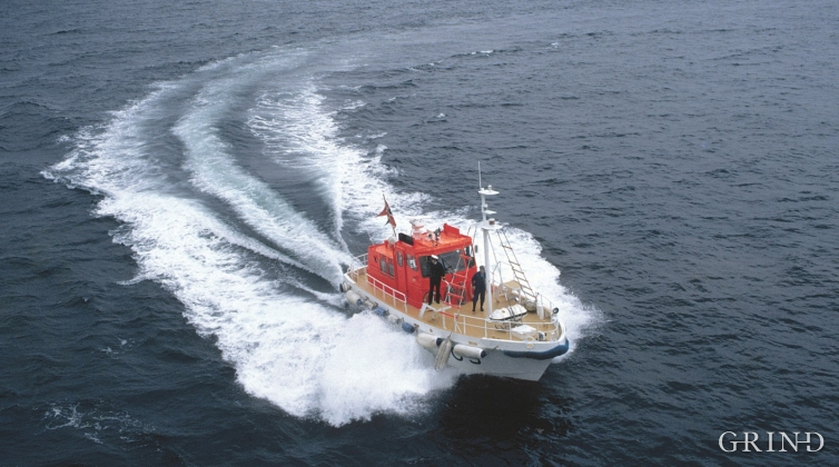 Pilot vessel at Fedje.