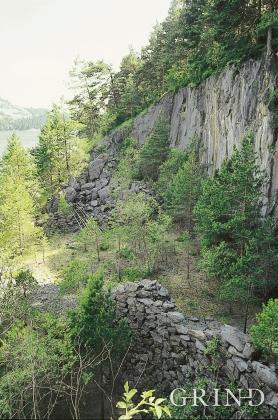 Kalkbrotet på austsida av Storsøya