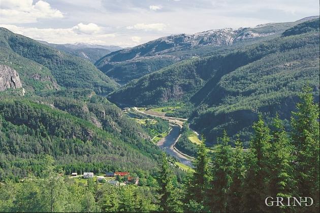 Vosso mellom Evangervatnet og Bolstadfjorden