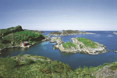 Landet i vest – på randen av den skandinaviske halvøy. Fra Algrøyna i Fjell. (Svein Nord)