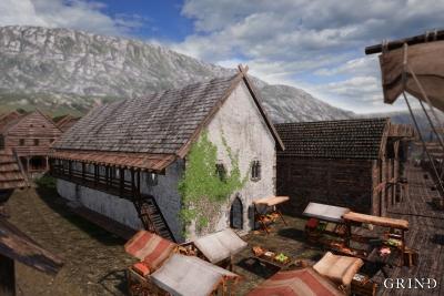 Stevnestova (rådstuen) og byens vinkjeller lå på Bryggen