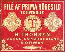 Label from Sunde, Kvinnherad