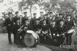 Arne musikkforening, kring 1900.
