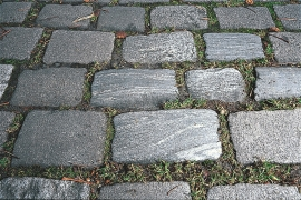 Cobblestone in Bergen from Stamnes.
