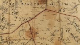 Landmåler og kartograf Christopher Blix Hammer sitt kart frå 1776 over Christiansand stift