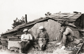 Lunch break on the scree slope, 1928