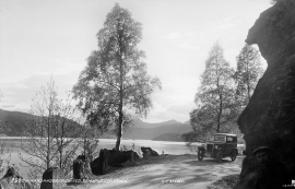 "The new ""Hardanger"" road through Samnanger, in the early 1930s."
