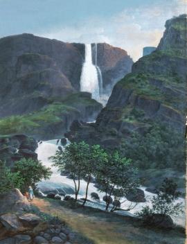 «Skytjefoss i Simadalen», Johannes Flintoe
