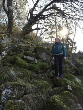 Denne ura er tildekket av vegetasjon, som tyder på at disse skredavsetningene er relativt gamle.