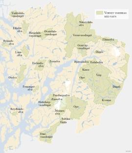 Verna  vassdrag i Hordaland.