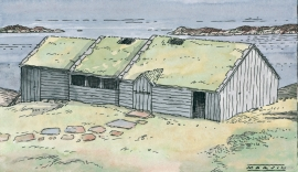 This is how the longhouse may have looked.