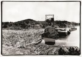 Garbage dump in Kollevågen, 1971.
