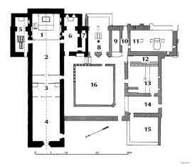 Floor plan of Lyse Cloister, Os