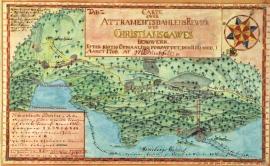 Kart over gruveområdet i Atramadalen i Ølve