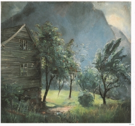 Painting of the smallholding Træo
