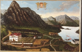 The Rosendal Barony painted by Hans Sager in 1705