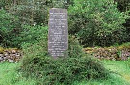 A grave monument on the cholera churchyard in Hystadmarka.