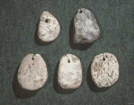 """Kljåsteinar"" (stone weights) from Viking times"