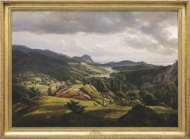 "J.C.Dahl's painting ""From Lyse Monastery"" 1827"